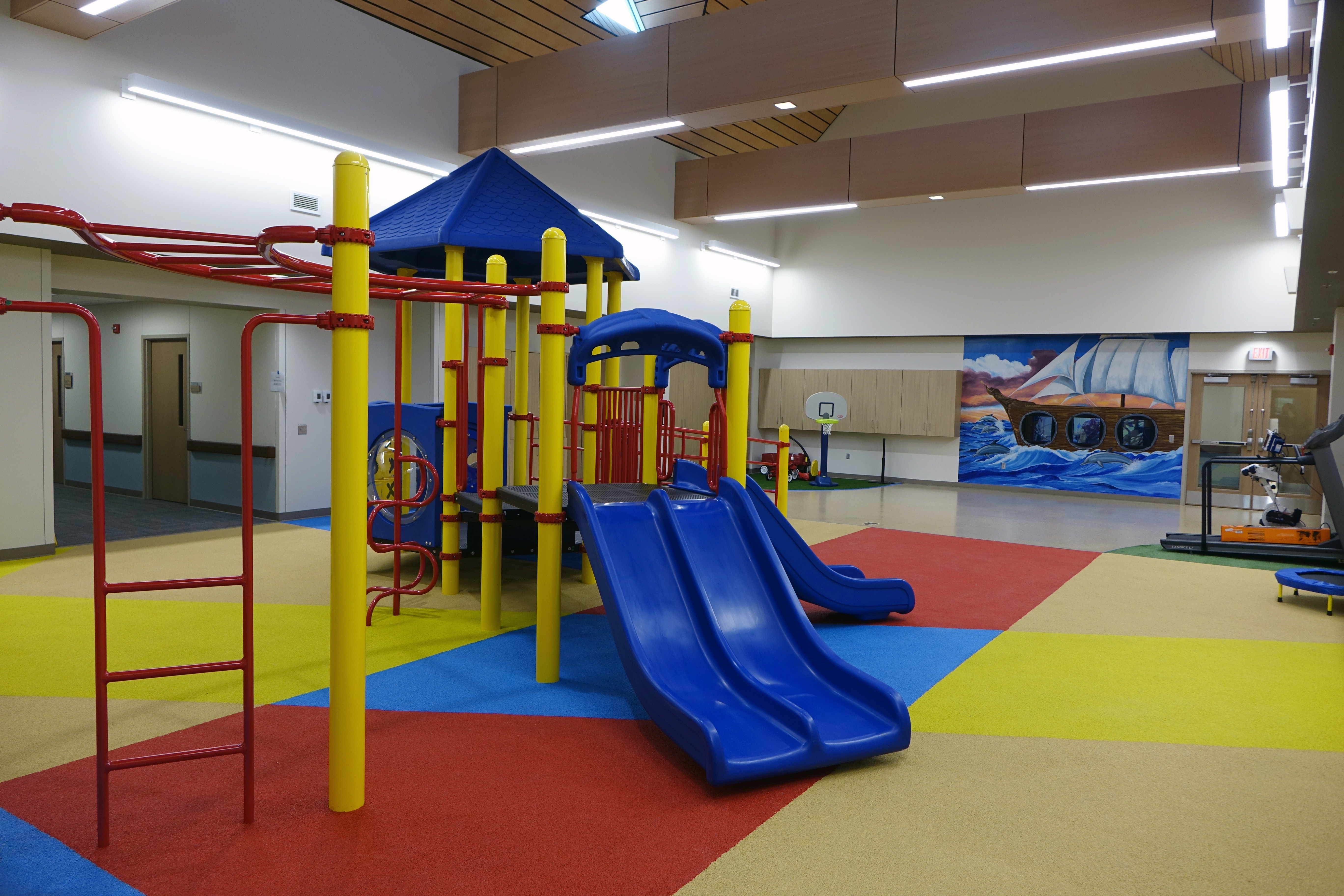 Equipment pediatric physical therapy - The Indoor Playground And Physical Therapy Area In The Secure Pediatric Unit