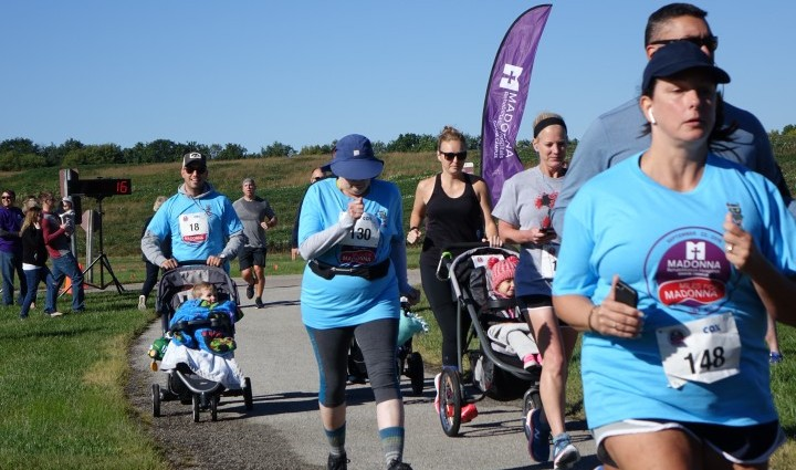 Nearly 200 people joined us for the run and walk benefiting the St. Benedict Fund.