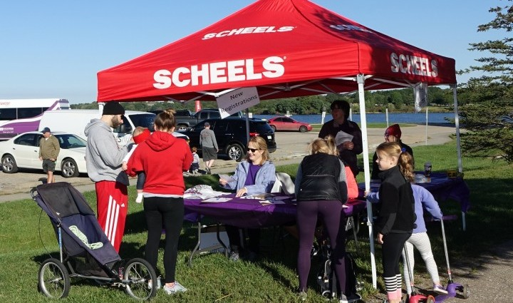 Scheels Omaha sponsored the registration tent.