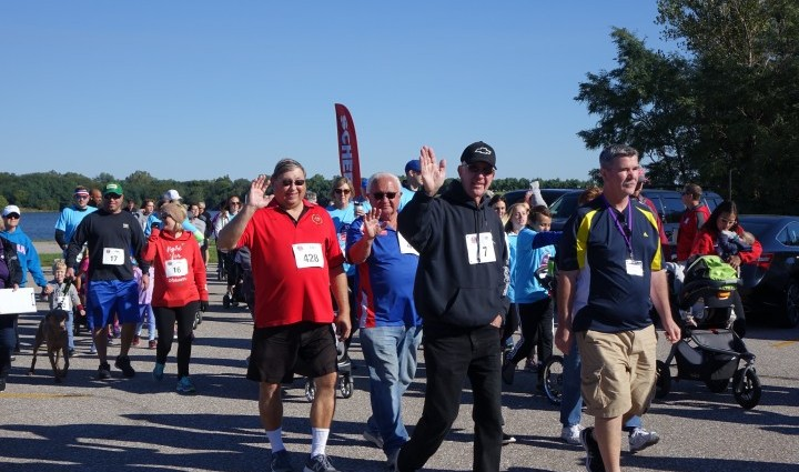 Walkers enjoyed beautiful fall weather and the opportunity to support Madonna.
