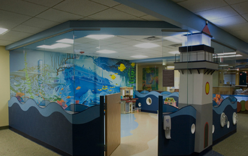 A play area in the Alexis Verzal Children's Rehabilitation Unit, located at our Lincoln Campus.