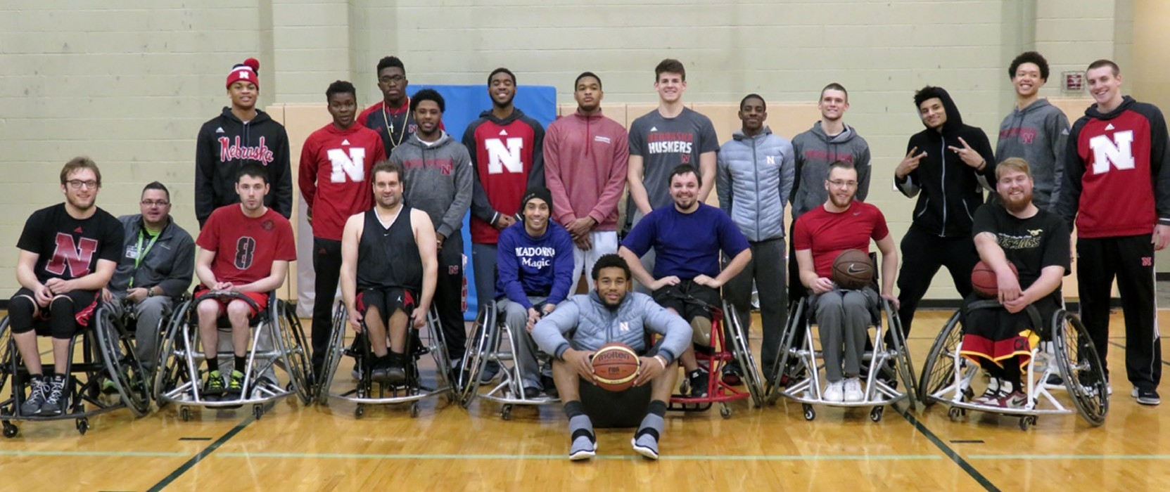 Hoopin' it up with the Huskers and Madonna Magic