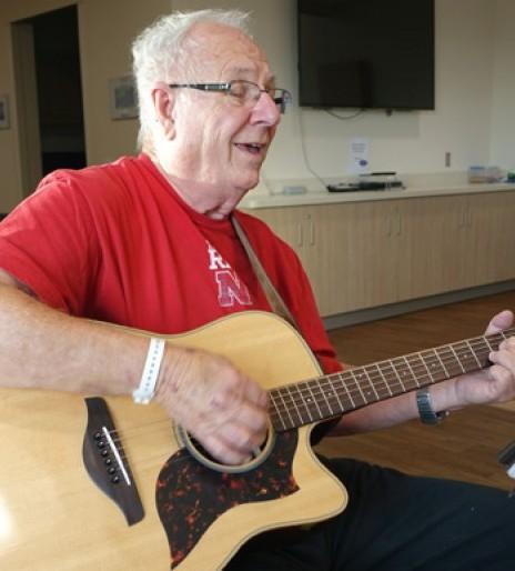 Singing gospel songs at Madonna fuels stroke survivor's recovery