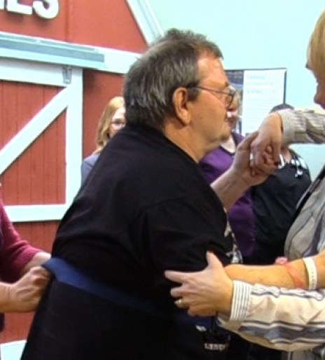 Stroke survivor makes good on his promise to dance with Madonna nurse
