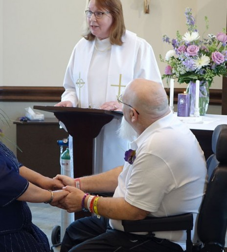 Omaha Campus chapel hosts wedding for Madonna patient