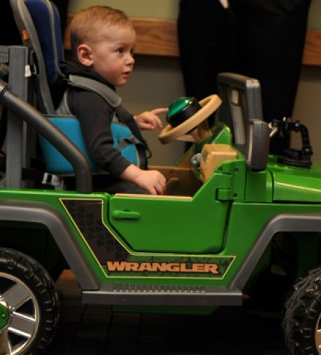 Engineers modify toy electric car to get Kansas toddler mobile