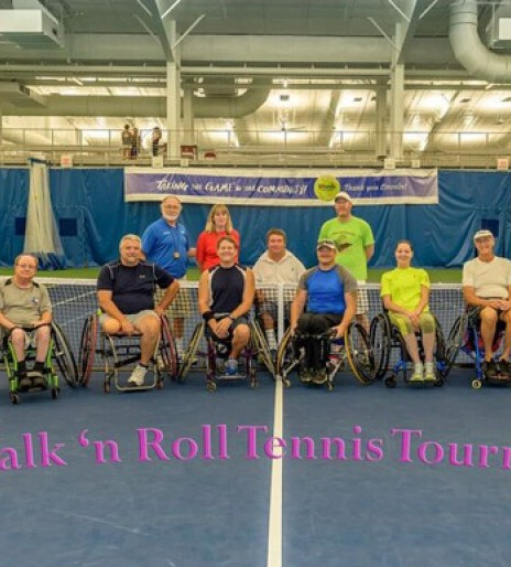 Donations put wheelchair tennis in full swing