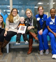 Madonna team incorporates fun and play into young cancer survivor's rehab