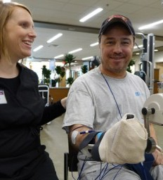 Illinois father works hard at stroke recovery for kids