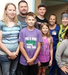 Kansas TBI teen reunites with Madonna care team