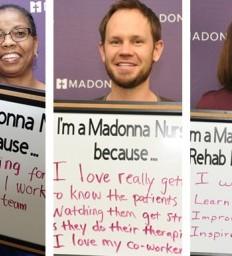 Celebrating nurses week at Madonna