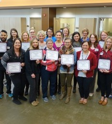 Former patient honors Madonna care team with Angel Wings