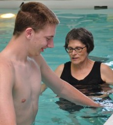 Athlete rebounds after spinal cord injury