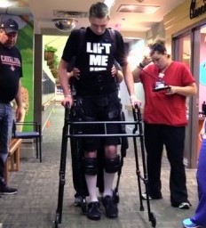 Technology and innovative therapies help 6-foot-6-inch-tall teen recover from spinal cord injury