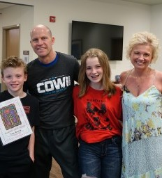 Omaha firefighter returns to duty after recovering at Madonna