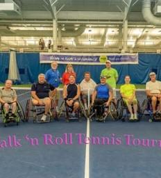 Donations put wheelchair tennis in full swing