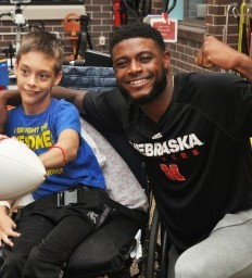 Husker surprises his #1 fan with a visit to the Lincoln Campus