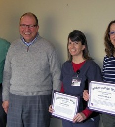 Grateful patient honors his care team