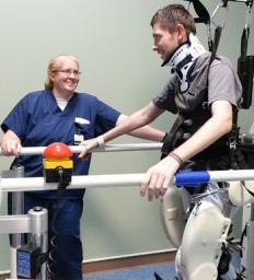Spinal cord injury survivor determined to walk again