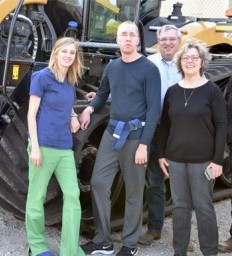 Patient visits UNL's Tractor Test Lab as part of therapy