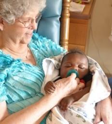 Volunteers have special duties as baby rockers
