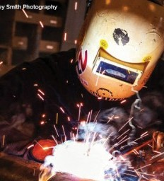 Determination and humor spark welder's recovery