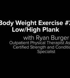 Bodyweight Exercise #2 with Ryan Burger