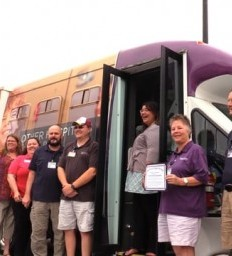 Grateful Patient Honors Madonna Transportation Team with Angel Wings