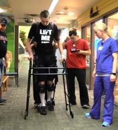 Technology and innovative therapies are helping a 6-foot-6 teen recover from a spinal cord injury