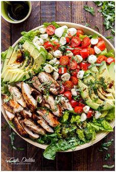 Healthy Recipe: Chicken Avocado Caprese Salad